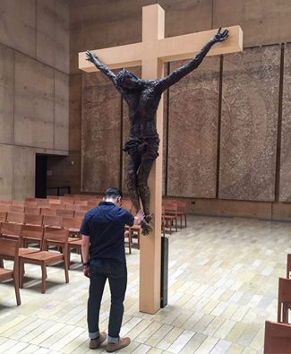 Jose Morales At Cathedral of Our Lady of the Angels